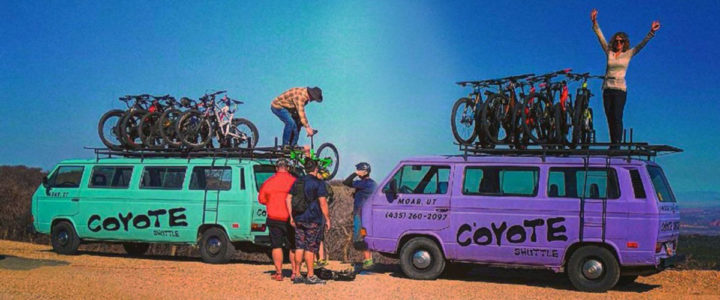 Image of Coyote Shuttle loading bikes